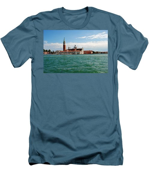 San Giorgio Maggiore Canal Shot Men's T-Shirt (Slim Fit) by Robert Moss