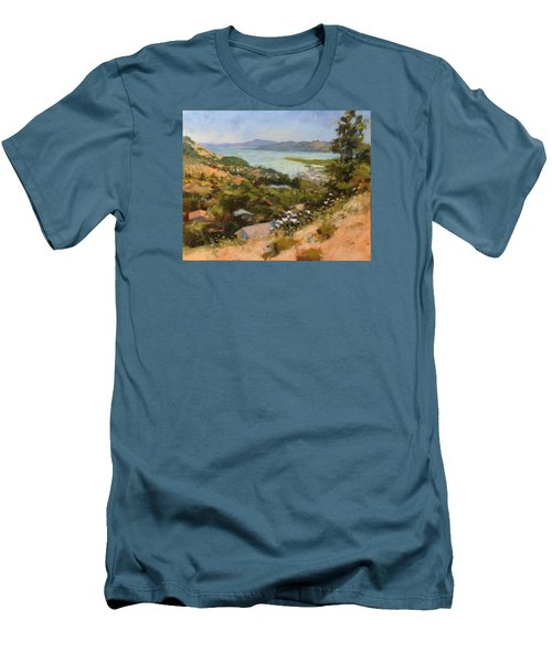 San Rafael Bay From Via La Cumbre, Greenbrae, Ca Men's T-Shirt (Athletic Fit)