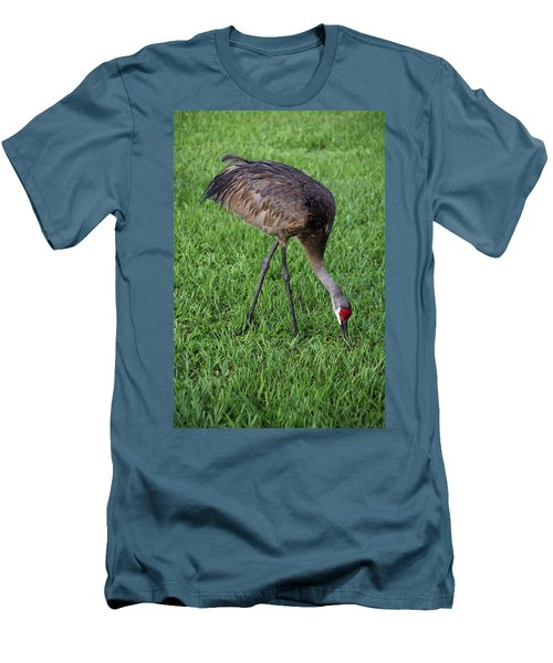 Men's T-Shirt (Slim Fit) featuring the photograph Sandhill Crane II by Richard Rizzo