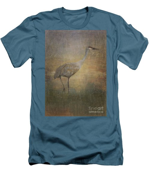 Sandhill Crane Watercolor Men's T-Shirt (Athletic Fit)