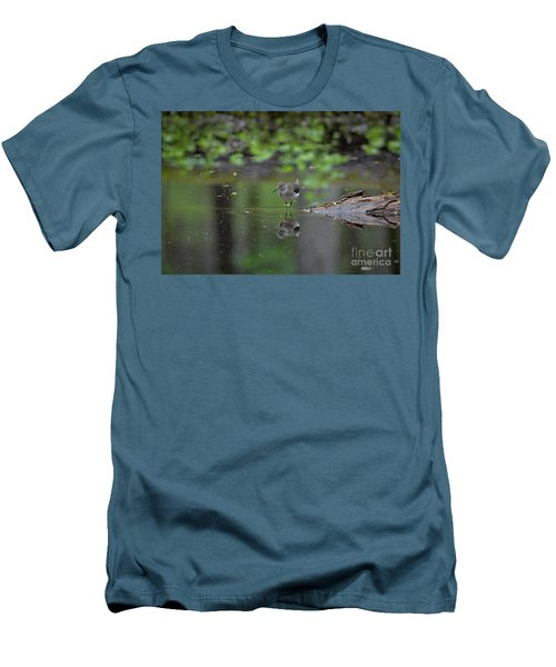 Sandpiper In The Smokies Men's T-Shirt (Slim Fit) by Douglas Stucky