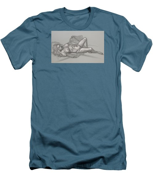 Sandra Sleepimg Men's T-Shirt (Slim Fit) by Donelli  DiMaria