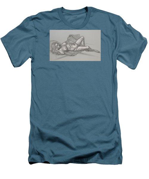 Sandra Sleepimg Men's T-Shirt (Athletic Fit)