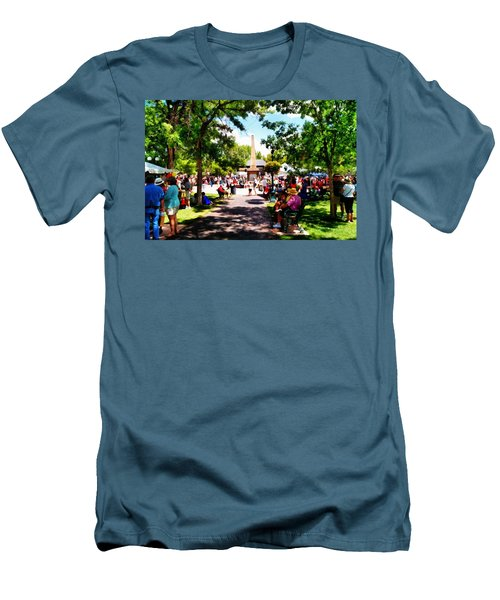 Men's T-Shirt (Slim Fit) featuring the photograph Santa Fe New Mexico by Joseph Frank Baraba