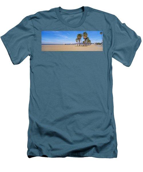 Santa Monica Beach Ca Men's T-Shirt (Athletic Fit)