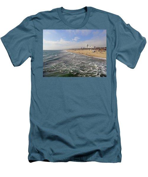 Santa Monica Beach Men's T-Shirt (Athletic Fit)