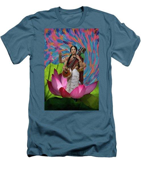 Saraswati Men's T-Shirt (Slim Fit) by David Clanton