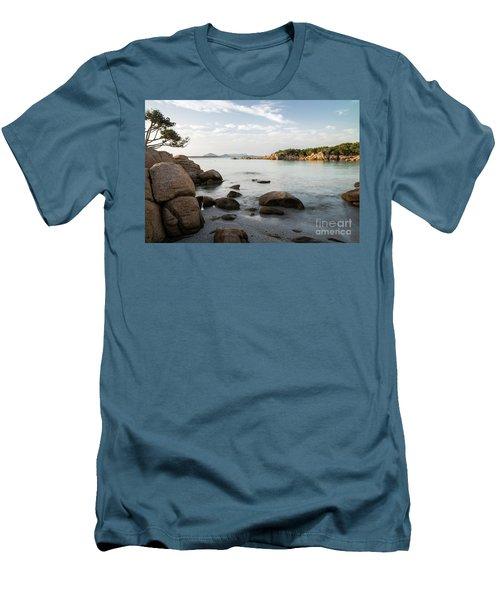 Sardinian Coast Men's T-Shirt (Slim Fit) by Yuri Santin
