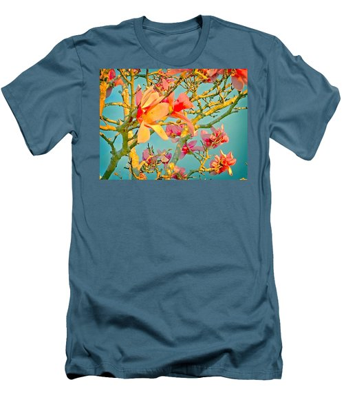 Men's T-Shirt (Slim Fit) featuring the photograph Saucer Magnolia by Angela Annas