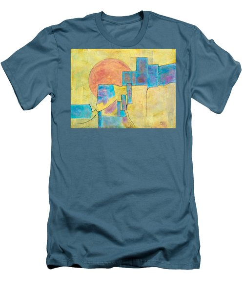 Men's T-Shirt (Slim Fit) featuring the painting Sausalito by Nancy Jolley
