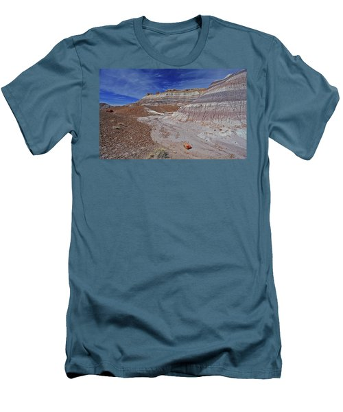 Men's T-Shirt (Slim Fit) featuring the photograph Scattered Fragments by Gary Kaylor
