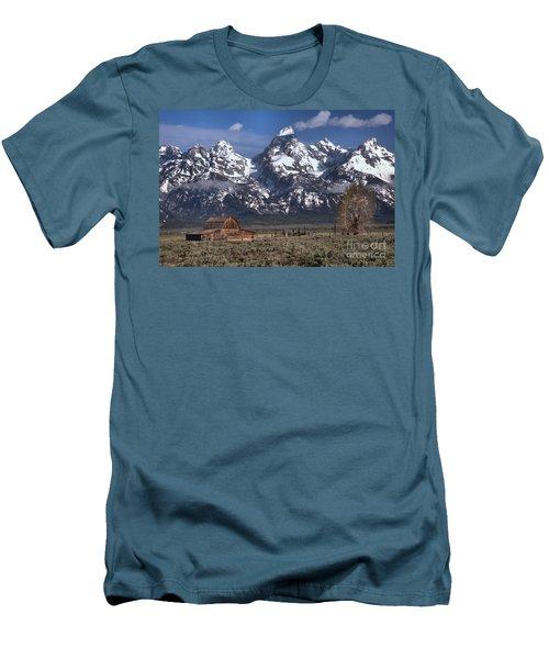 Scenic Mormon Homestead Men's T-Shirt (Slim Fit) by Adam Jewell