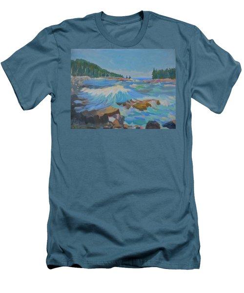 Schoodic Inlet Men's T-Shirt (Slim Fit) by Francine Frank