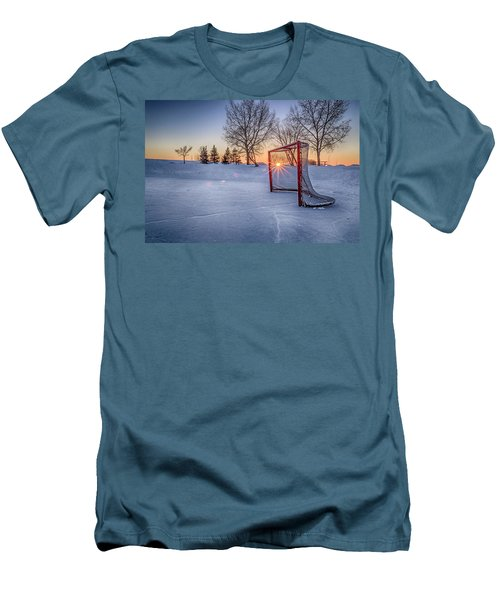 Men's T-Shirt (Slim Fit) featuring the photograph Scoring The Sunset 3 by Darcy Michaelchuk