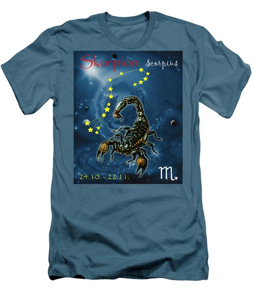 Scorpius And The Stars Men's T-Shirt (Athletic Fit)