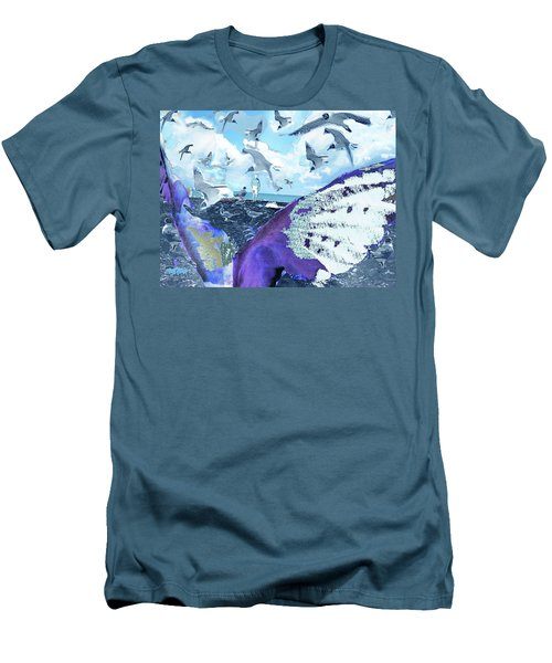Scream Of The Gulls Men's T-Shirt (Slim Fit) by Seth Weaver