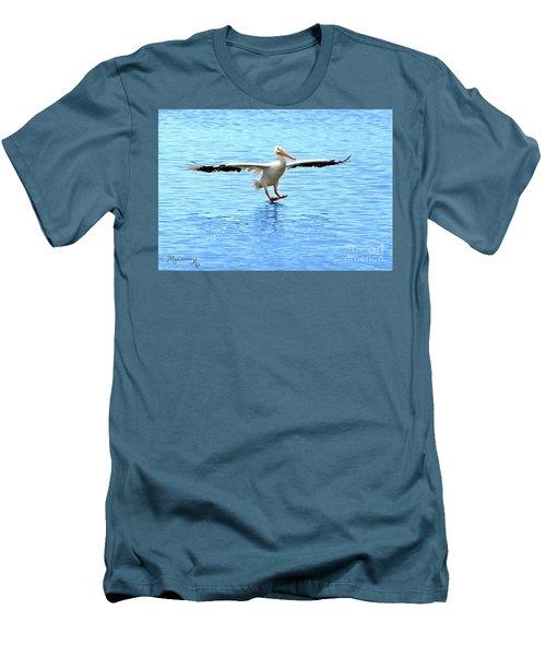 Screeching Halt Men's T-Shirt (Slim Fit) by Mariarosa Rockefeller