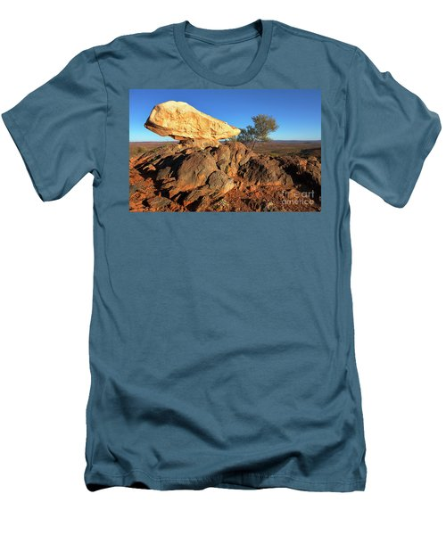 Men's T-Shirt (Slim Fit) featuring the photograph Sculpture Park Broken Hill by Bill Robinson