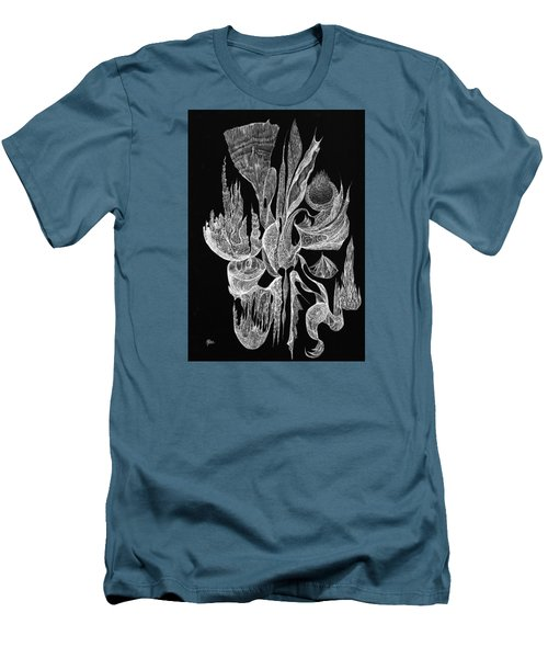 Sea Filigree Men's T-Shirt (Slim Fit) by Charles Cater