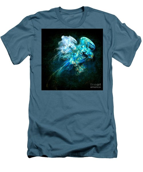 Men's T-Shirt (Slim Fit) featuring the painting Sea Jellyfish by Alexa Szlavics