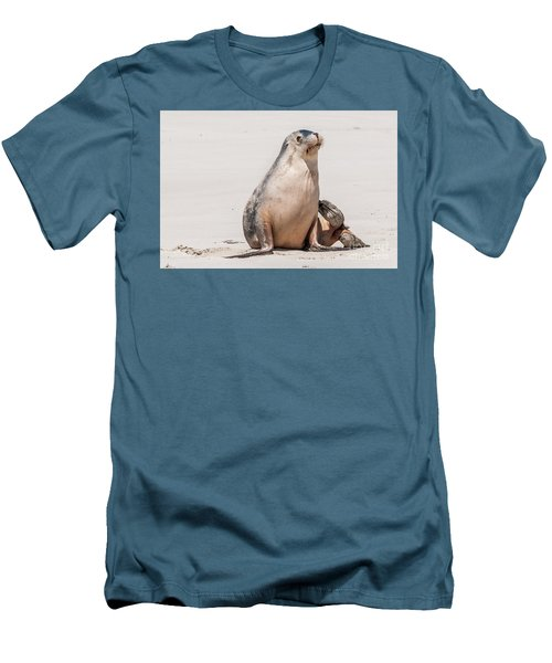 Sea Lion 1 Men's T-Shirt (Slim Fit) by Werner Padarin