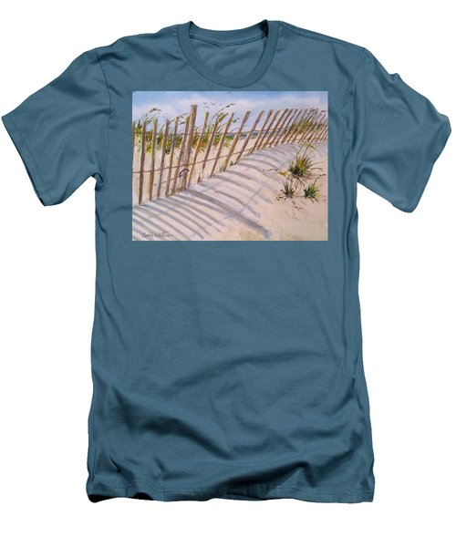 Sea Oats And Shadows Men's T-Shirt (Athletic Fit)