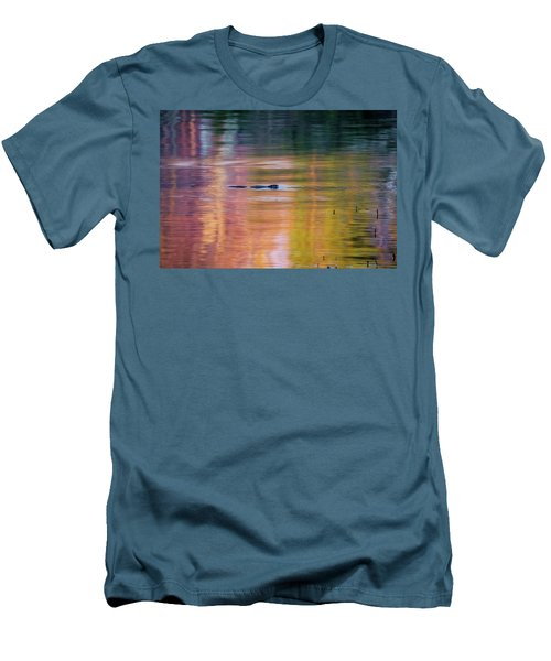 Men's T-Shirt (Slim Fit) featuring the photograph Sea Of Color by Bill Wakeley