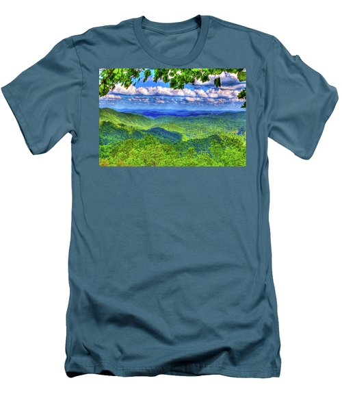Sea Of Green Men's T-Shirt (Athletic Fit)