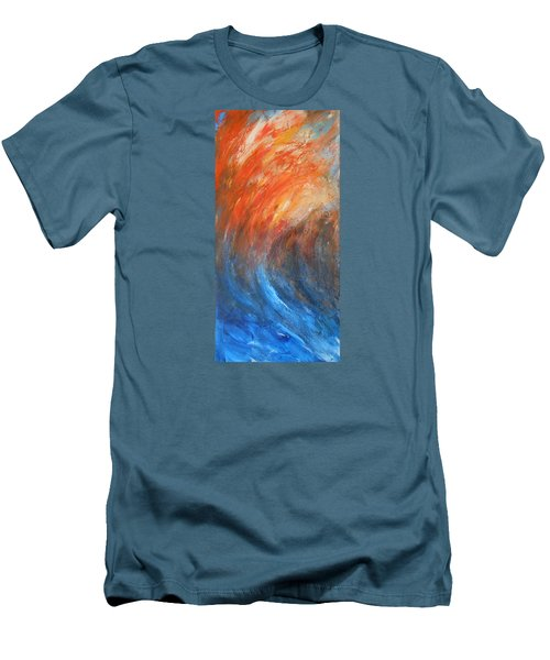 Men's T-Shirt (Slim Fit) featuring the painting Sea Of Passion by Jane See