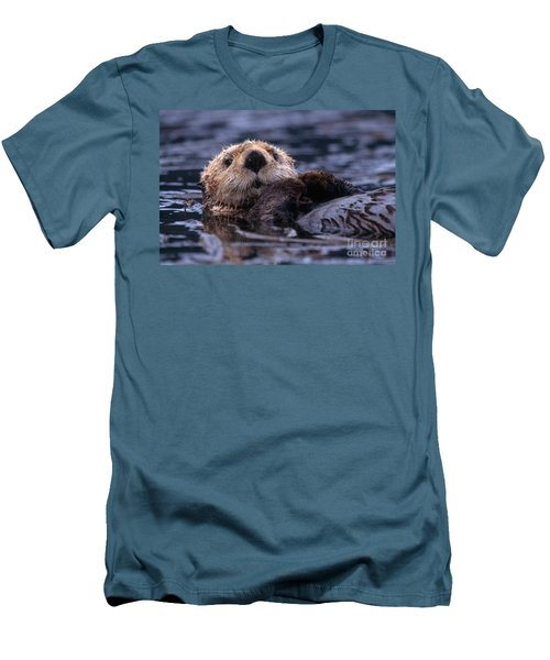 Sea Otter Men's T-Shirt (Slim Fit) by Yva Momatiuk and John Eastcott and Photo Researchers