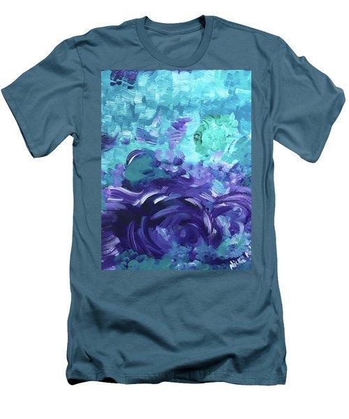 Sea Purple Men's T-Shirt (Athletic Fit)