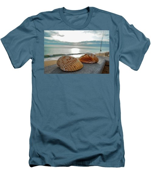 Sea Shells Men's T-Shirt (Slim Fit) by Josy Cue