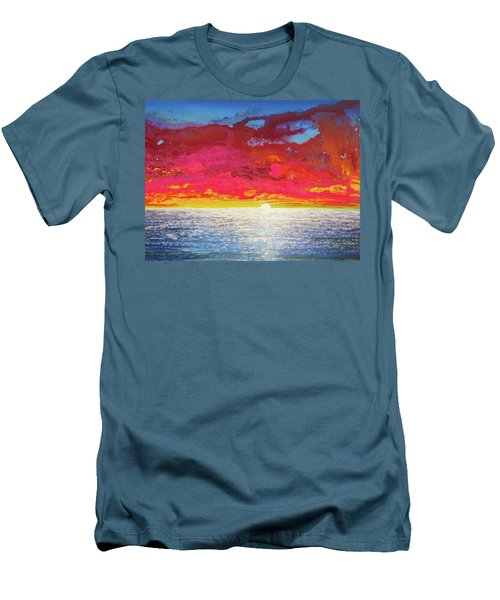 Sea Splendor Men's T-Shirt (Slim Fit) by Mary Ellen Frazee