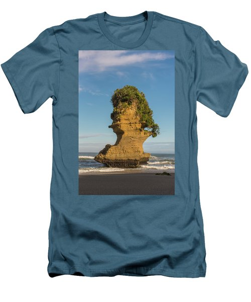 Men's T-Shirt (Athletic Fit) featuring the photograph Sea Stack, Punakaiki Beach by Gary Eason