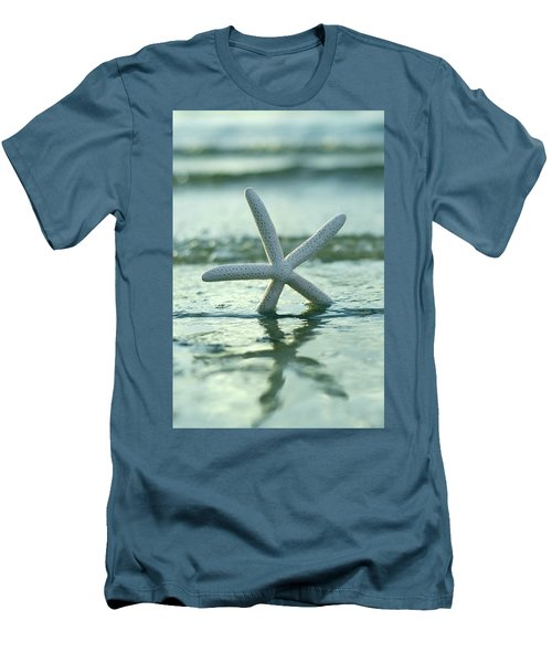 Men's T-Shirt (Slim Fit) featuring the photograph Sea Star Vert by Laura Fasulo
