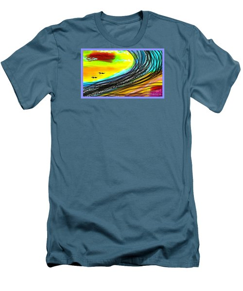 Sea Men's T-Shirt (Slim Fit) by The Art of Alice Terrill