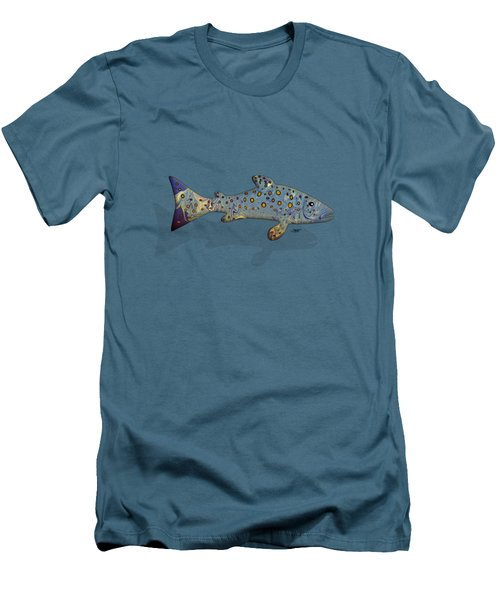 Sea Trout Men's T-Shirt (Slim Fit) by Mikael Jenei