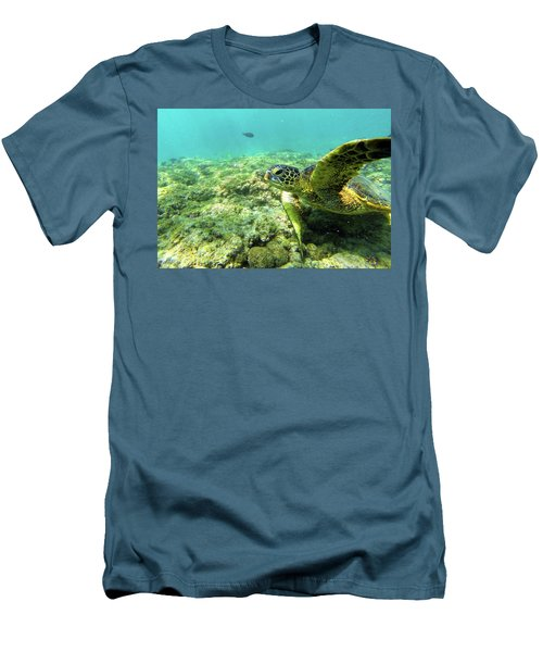 Men's T-Shirt (Slim Fit) featuring the photograph Sea Turtle #2 by Anthony Jones