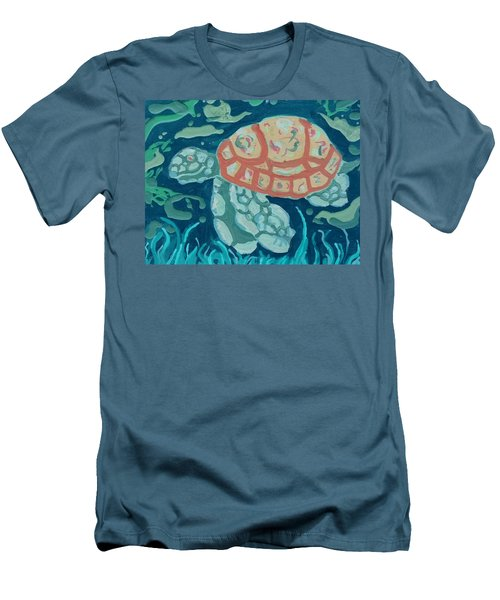 Sea Turtle At Twilight  Men's T-Shirt (Athletic Fit)