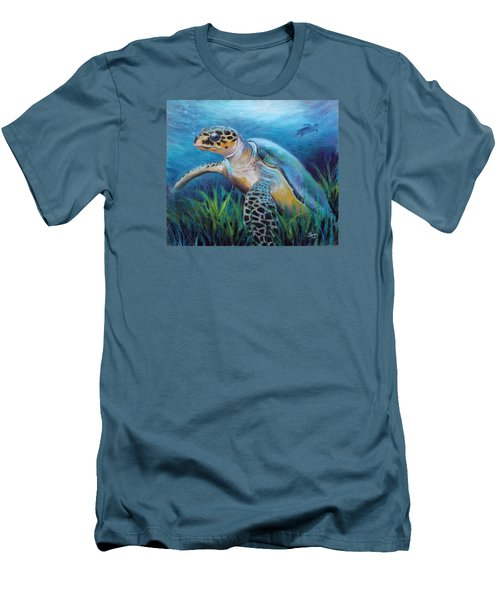 Sea Turtle Cove Men's T-Shirt (Athletic Fit)
