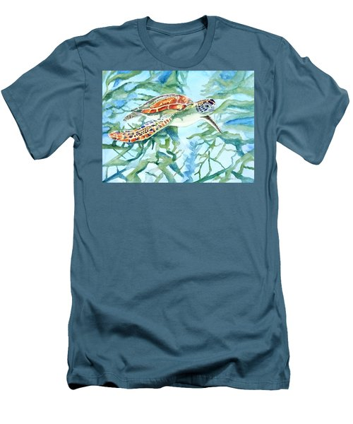 Sea Turtle Series #1 Men's T-Shirt (Athletic Fit)
