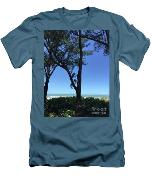 Seagrapes And Pines Men's T-Shirt (Slim Fit) by Megan Cohen