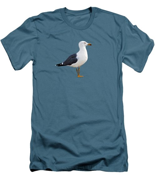 Men's T-Shirt (Slim Fit) featuring the photograph Seagull Portrait by Sue Melvin
