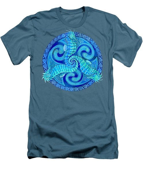 Seahorse Triskele Men's T-Shirt (Athletic Fit)
