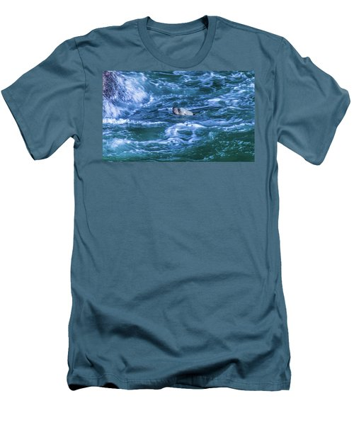 Men's T-Shirt (Athletic Fit) featuring the photograph Seal In Teh Water by Jonny D