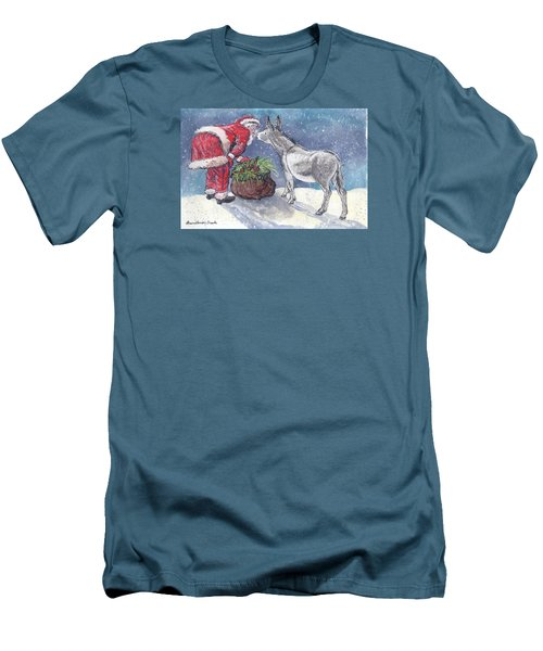 Season's Greetings Men's T-Shirt (Slim Fit) by Dawn Senior-Trask