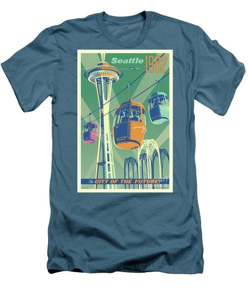 Seattle Space Needle 1962 - Alternate Men's T-Shirt (Slim Fit) by Jim Zahniser