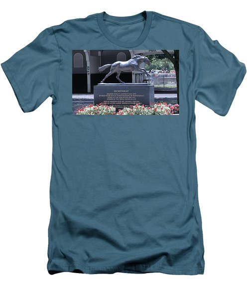 Men's T-Shirt (Slim Fit) featuring the photograph Secretariat by  Newwwman