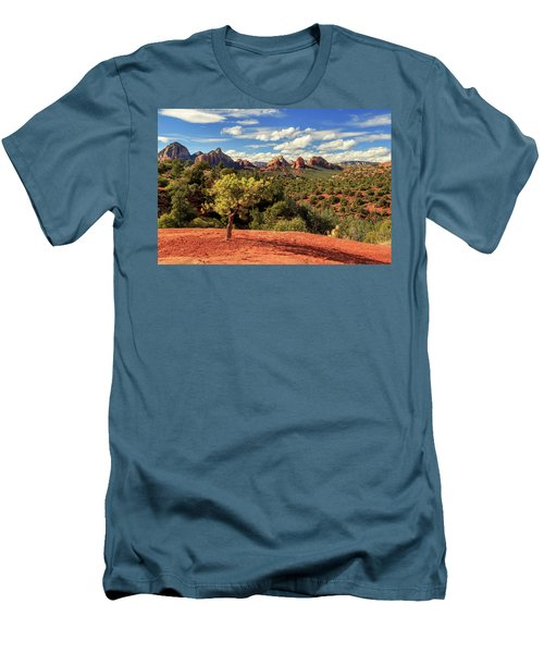 Sedona Afternoon Men's T-Shirt (Slim Fit) by James Eddy