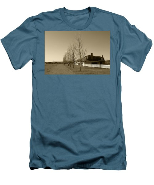 Men's T-Shirt (Slim Fit) featuring the photograph Sedona Series - Alley by Ben and Raisa Gertsberg